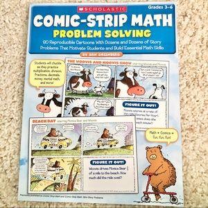 Comic strip math problem solving workbook
